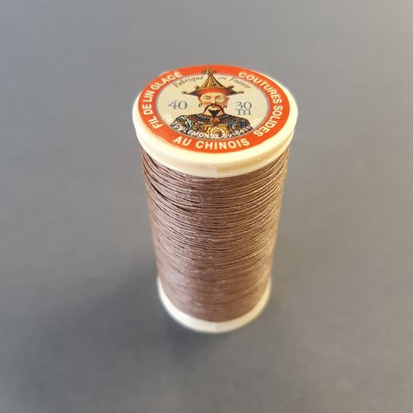 French linen light brown 250, 30 m, 40/3